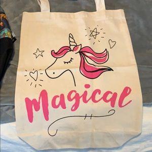 Magical unicorn tote brand new